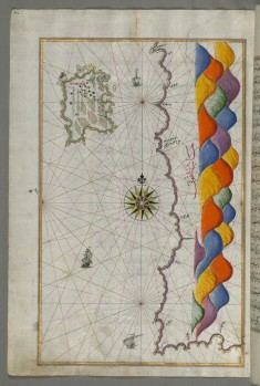 Map of the Island of Bozjah (Tenedos) Off the Coast of Anatolia