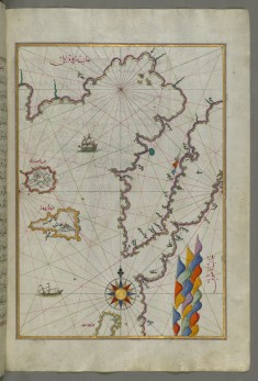 Map of the Islands of Semendrek and Imroz in the Aegean Sea
