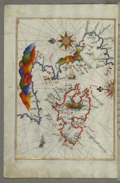 Map of the Island of Midilli in the Northeastern Aegean Sea
