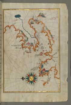 Map of the Anatolian Coast Around the Bay of Izmir