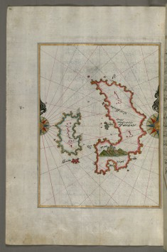 Map of the the Island of Psara West of Chios