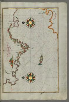 Map of the Anatolian Coast Facing the Island of Samos