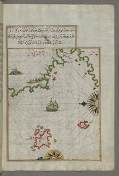 Map of Two Small Islands Off the Coast of Anatolia