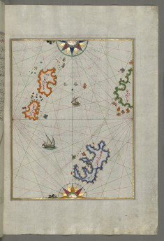 Map of Several Islands of the Eastern Aegean Sea Including: Leros and Patmos