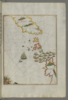 Map of the Area Between the Islands of Ikaria and Samos