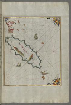 Map of the Island of Ikaria in the Eastern Aegean Sea