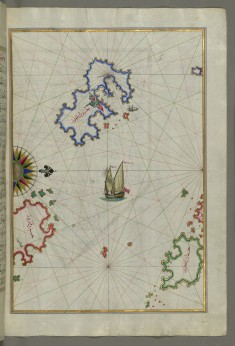 Map of the Island of Patmos