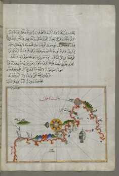Map of the Anatolian Coast and the Small Kara Island
