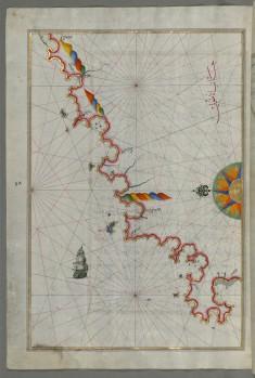 Map of the Anatolian Coast Along the Kerme Bay