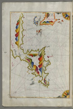 Map of Syme Island North-west of Rhodes Island