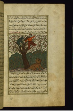 Haman Cuts a Branch, with a Bear on it, for the Lion Beneath the Tree