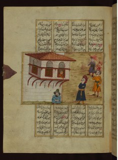 A Young Man Looking Out of the Window for His Lover Abdullah