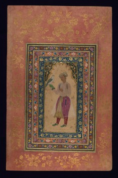 Young Mughal Courtier with a Falcon