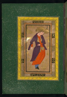 Leaf from Album of Persian Miniatures and Calligraphy