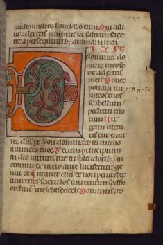 """Decorated initial """"D"""" (Dixit dominus)"""
