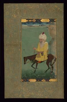 Single Leaf of Mullah Du Piyaza Riding a Horse