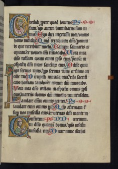 "Historiated Initial ""C"" with a Jewish Priest"