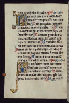 "Historiated Initial ""Q"" with an Apostle"