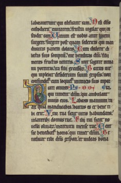 "Historiated Initial ""B"" with a Jewish Priest"
