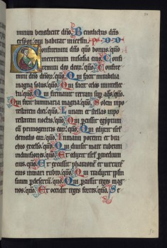 "Historiated Initial ""C"" with an Apostle"