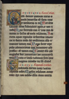"Historiated Initial ""C"" with King David"