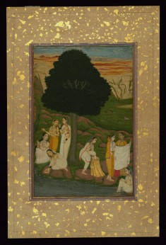 Women Bathing on the Bank of a River