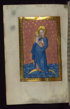Leaf from Vienna Book of Hours: Virgin and Child