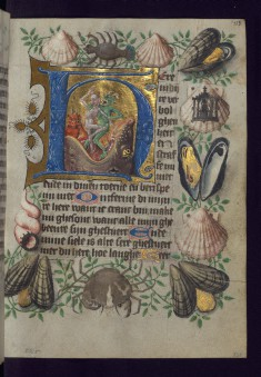 Leaf from the van Alphen Hours: Initial H with Souls Cast into Hellmouth