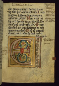"Decorated initial ""E"""