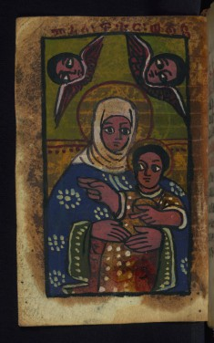 Virgin and Her Beloved Child flanked by the Archangels Michael and Gabriel