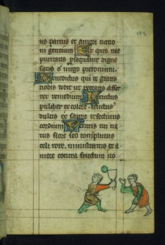 Leaf from a Book of Hours: Men Playing Tennis
