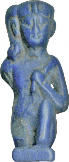 Pendant, Squatting by Horus the Child