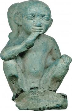 Horus the Child, Seal Squatting Child