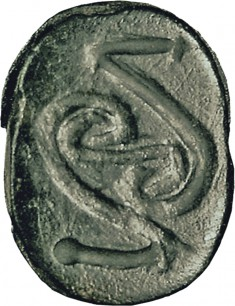 Scarab with Spiral Scrolls