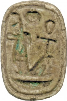 Amulet with the Names of Amenophis III (1388-1351/1350 BCE) and Queen Tiye