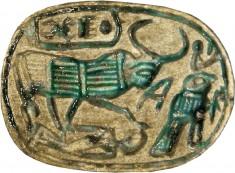 Scarab with King as Bull Motif