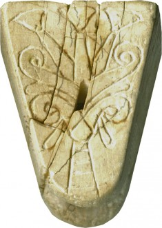 Knob with Incised Decoration
