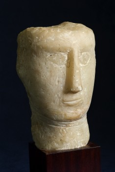 Head of a Woman with a Rectangular Face