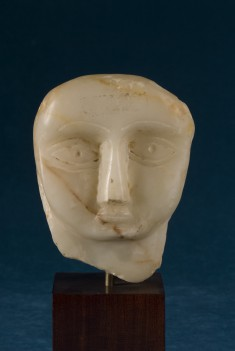 Head of a Person with a Very Round Face