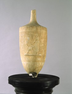Lekythos with Seated and Standing Figures