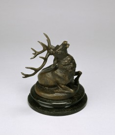 Seated Elk; Fallen Stag