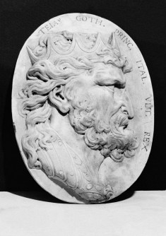Medallion with Portrait of Teias, the Last Ostrogoth King of Italy