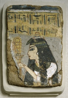 Wall Painting: Woman Holding a Sistrum