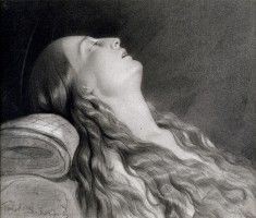 "Study for ""Louise Vernet on Her Death Bed"""