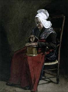 Old Woman with Copper Pot