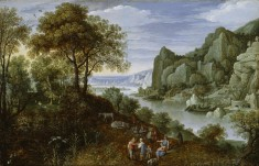 River Landscape with Mining