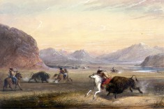 Buffalo Hunting, near Independence Rock