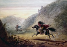 "Snake Indian Pursuing ""Crow"" Horse Thief"
