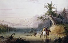 """Trappers' Encampment on the """"Big Sandy"""" River"""