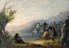 Indians Testing Their Bows
